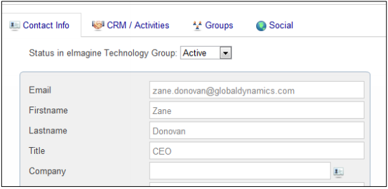 Microsoft Dynamics ChamberZoom Contact