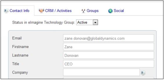 Microsoft Dynamics ChamberZoom Contact